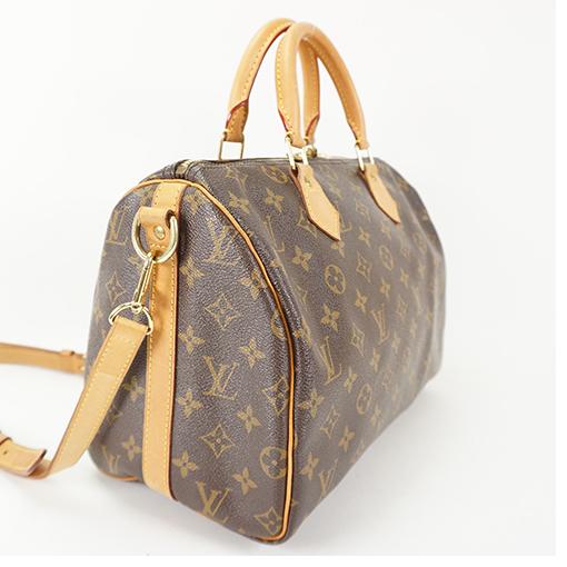 af1deffcd5bc Auth Louis Vuitton Monogram Speedy Bandouliere 30 M41112 Handbag ...