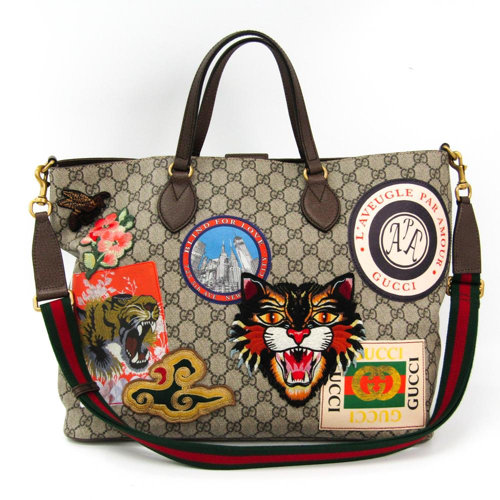5747d56ea1e Gucci Gucci Courrier Soft GG Supreme Tote 474085 Women s GG Supreme ...
