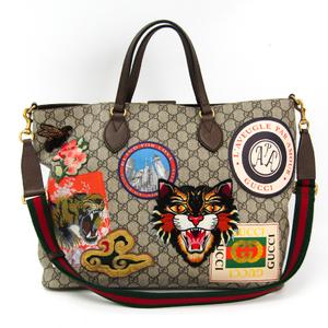 Gucci Gucci Courrier Soft GG Supreme Tote 474085 Women's GG Supreme,Leather Tote Bag Multi-color