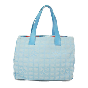 Auth Chanel Tote Bag New Travel Line Blue