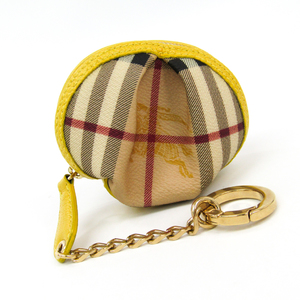 Burberry 3752755 Women's PVC,Leather Coin Purse/coin Case Beige,Yellow