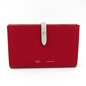 71f9edb133b3 Celine Large Multifunction 104873AI5 Women's Leather Long Wallet (bi-fold)  Grayish,Red