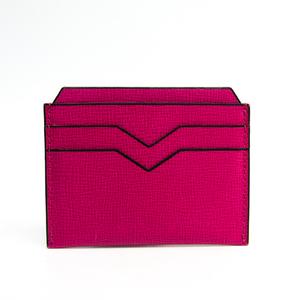 ヴァレクストラ(Valextra) レザー カードケース ピンク V8L77