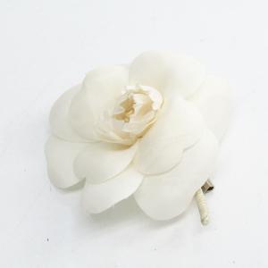 Chanel Camellia Textile Corsage White