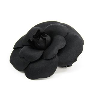 Chanel Camellia Corsage Black