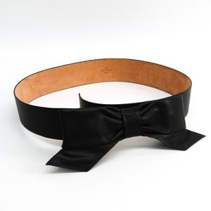 ルイ・ヴィトン(Louis Vuitton) レディース レザー リボンベルト ブラック 80