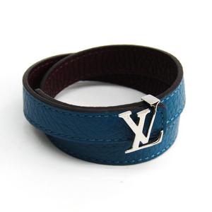 Louis Vuitton Brasle · LV M6015E Leather Bracelet Blue,Bordeaux