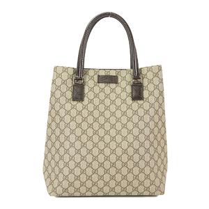 099d52f698f Auth Gucci Tote GG Plus GG Supreme 131220 Brown Beige Women s