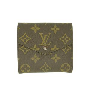 ルイヴィトン   財布(三つ折り)モノグラム  ポルトモネ ピエ M61660 ブラウン レディース