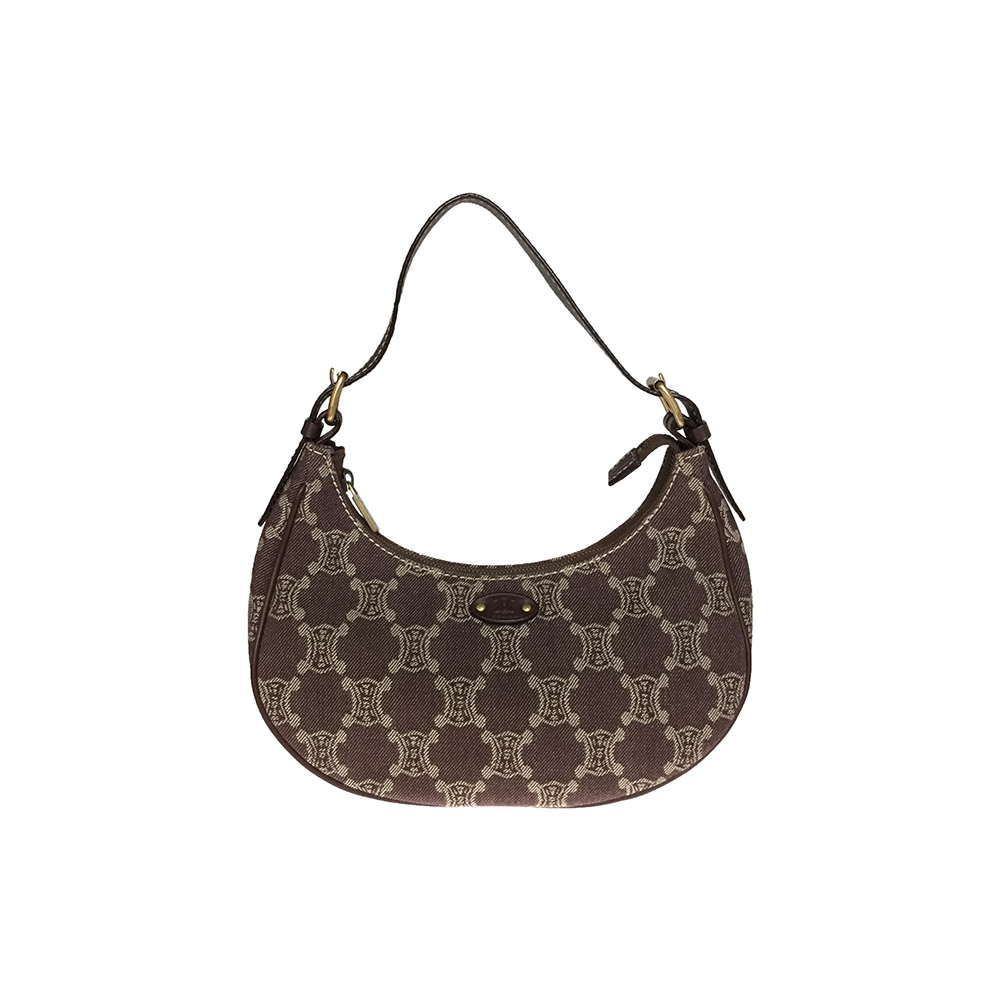 Celine Macadam Macadam CY 00/24 Denim Canvas Leather Shoulder Bag