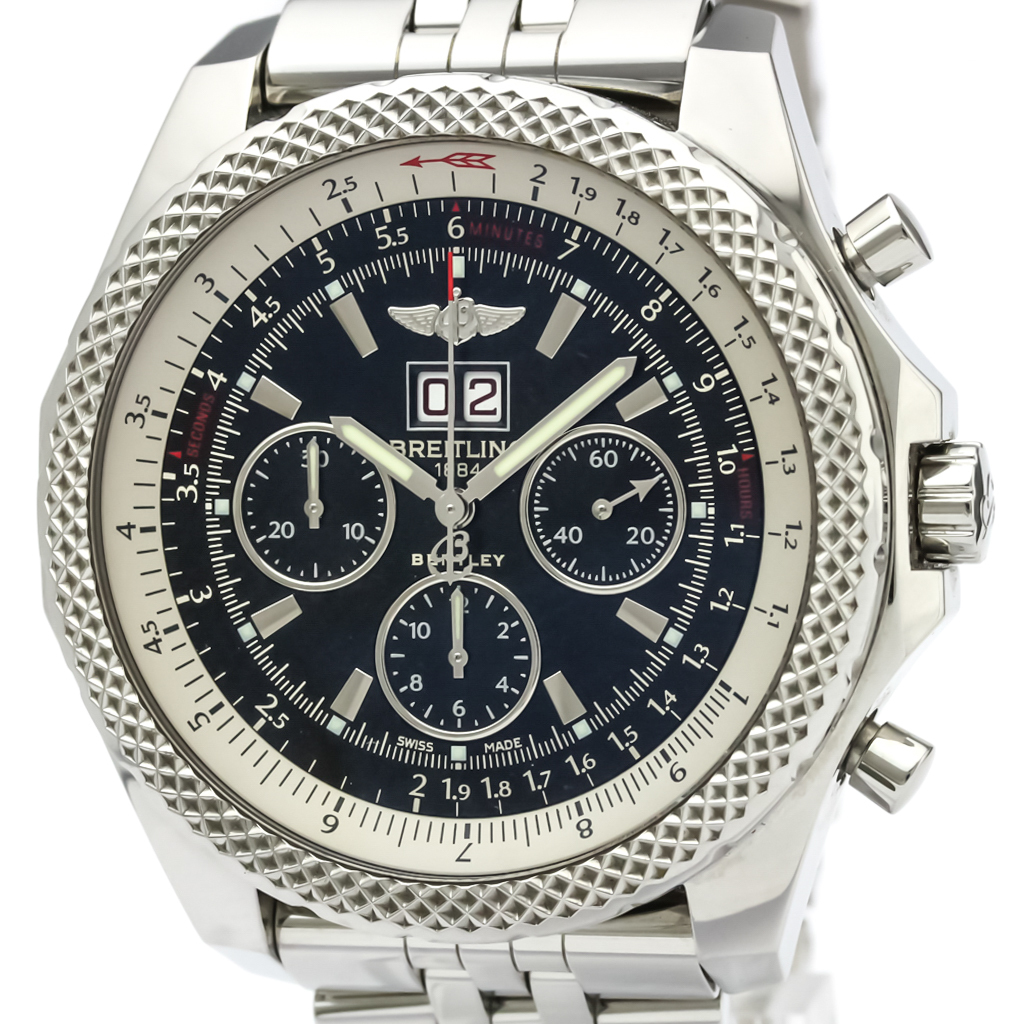 Polished BREITLING Bentley 6.75 Steel Automatic Mens Watch