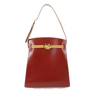 Auth Hermes Shoulder Bag Kelly Sports GM Red gold