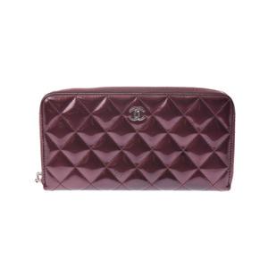 シャネル(Chanel) マトラッセ Fastener wallet  エナメルレザー 財布