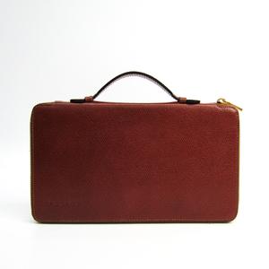 セリーヌ(Celine) トラベルケース ユニセックス レザー 長財布(二つ折り) ブラウン