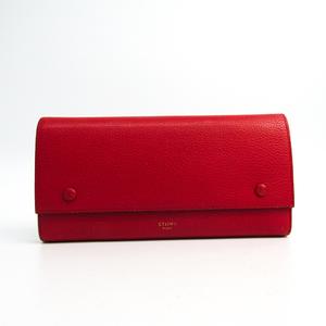 セリーヌ(Celine) ラージ フラップマルチファンクション 101673 レディース  カーフスキン 長財布(二つ折り) レッド