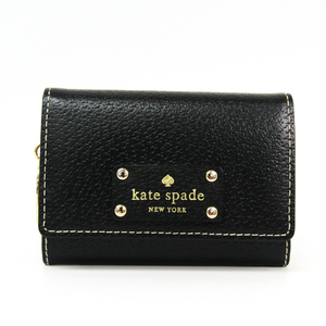 Kate Spade WLRU1736 Women's Leather Coin Purse/coin Case Black