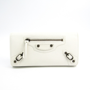 96bb0ca30fb0 Balenciaga Classic 163471 Leather Long Wallet (bi-fold) White