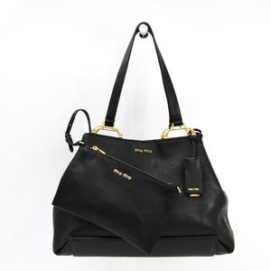 266fbe35d3ac Miu Miu 5BG025 Women s Leather Tote Bag Black. Just In!