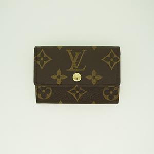 c07e20da5fd4 Auth Louis Vuitton coin Case Monogram Porte Monnaie Plat M61930
