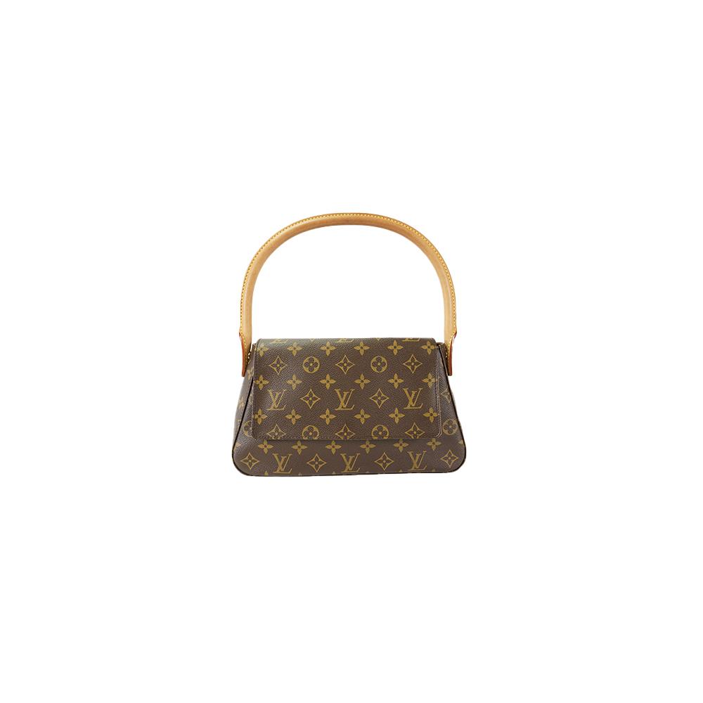 d966e6fd0ec8 Auth Louis Vuitton Shoulder Bag Monogram Mini Looping M51147 Brown Women s