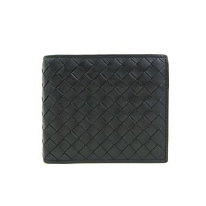 BOTTEGA VENETA Bifold Wallet Intrecciato Calf Leather Black 193642
