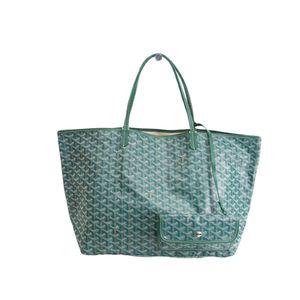 GOYARD Saint Louis GM Tote Bag Canvas/Leather Green