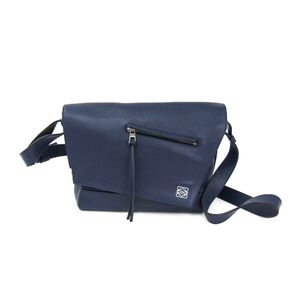 LOEWE Shoulder Bag Calfskin Leather Navy 307.30.N11