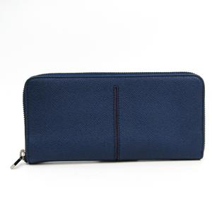 Tod's Unisex  Calfskin Long Wallet (bi-fold) Navy