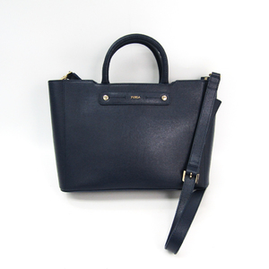 Furla Women's Leather Handbag,Shoulder Bag Navy