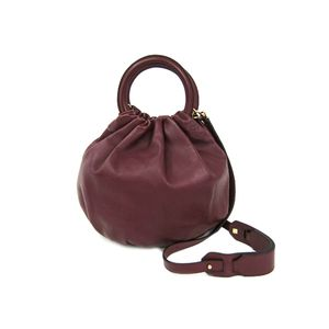 LOEWE Bounce S Hand bag Nappa Leather Bordeaux