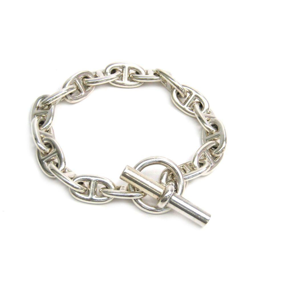 Hermes Chaine D'Ancre Silver 925 Bracelet MM