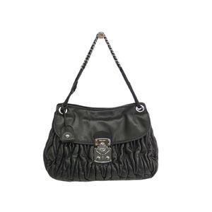 MIU MIU Chain Shoulder Bag Matrasse Lambskin Black/Silver