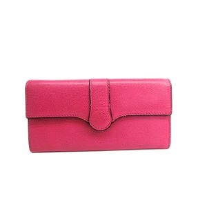 Valextra Punch Wallet Leather Magenta V9U14-028-000K-OC