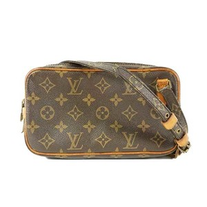 290b4ec0f494 Auth Louis Vuitton Shoulder Bag Monogram Marly Band Rier M51828 Brown  Women s