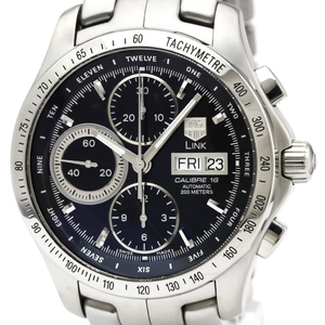 TAG HEUER Link Calibre 16 Chronograph Day Date Watch CJF211A