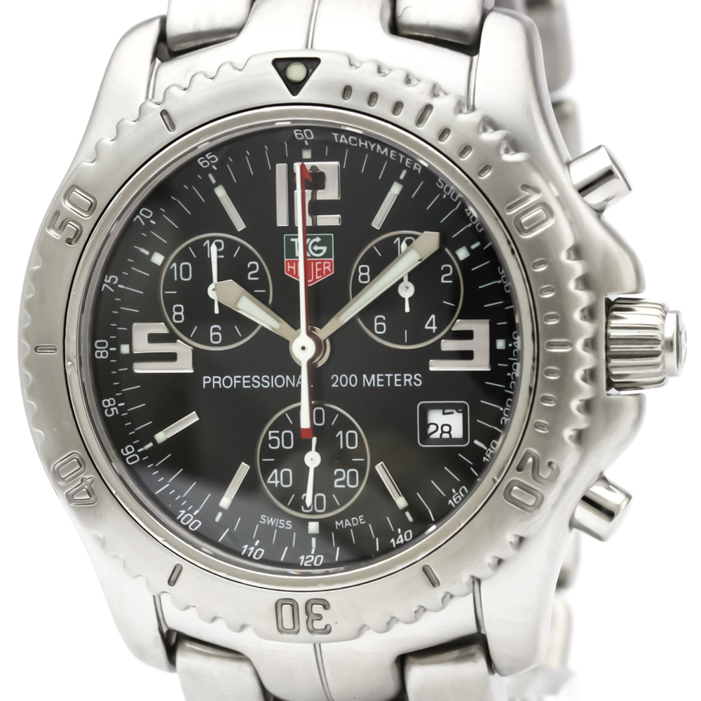 TAG HEUER Link Chronograph Jason Bourne Steel Watch CT1111