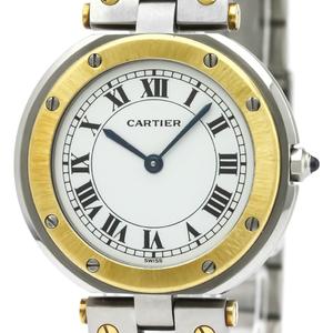 カルティエ(Cartier) サントス ラウンド クォーツ K18イエローゴールド(K18YG) メンズ ドレスウォッチ