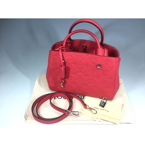 Louis Vuitton Empreinte M41760 Montaigne BB Girls,Women Shoulder Bag,Handbag Poppy Petal