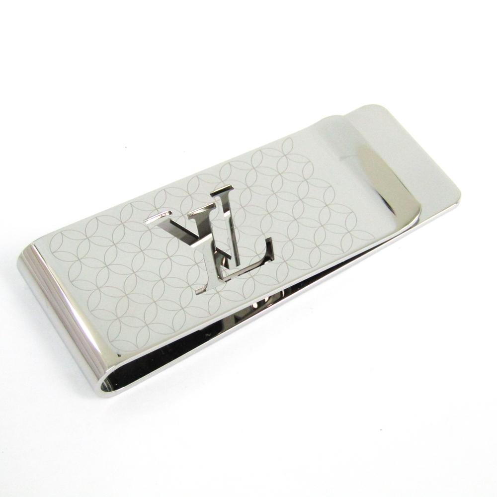 67e296de78a6 Louis Vuitton Champs-Elysees Bill Clip M65041 Stainless Steel Money Clip  Silver