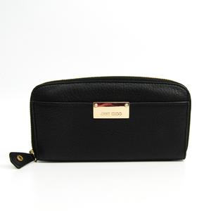 Jimmy Choo Women's Leather Long Wallet (bi-fold) Black,Gold