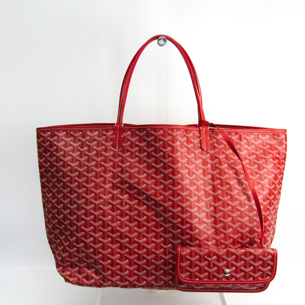 Goyard Saint Louis Saint Louis GM Women's Leather,Canvas Tote Bag Red