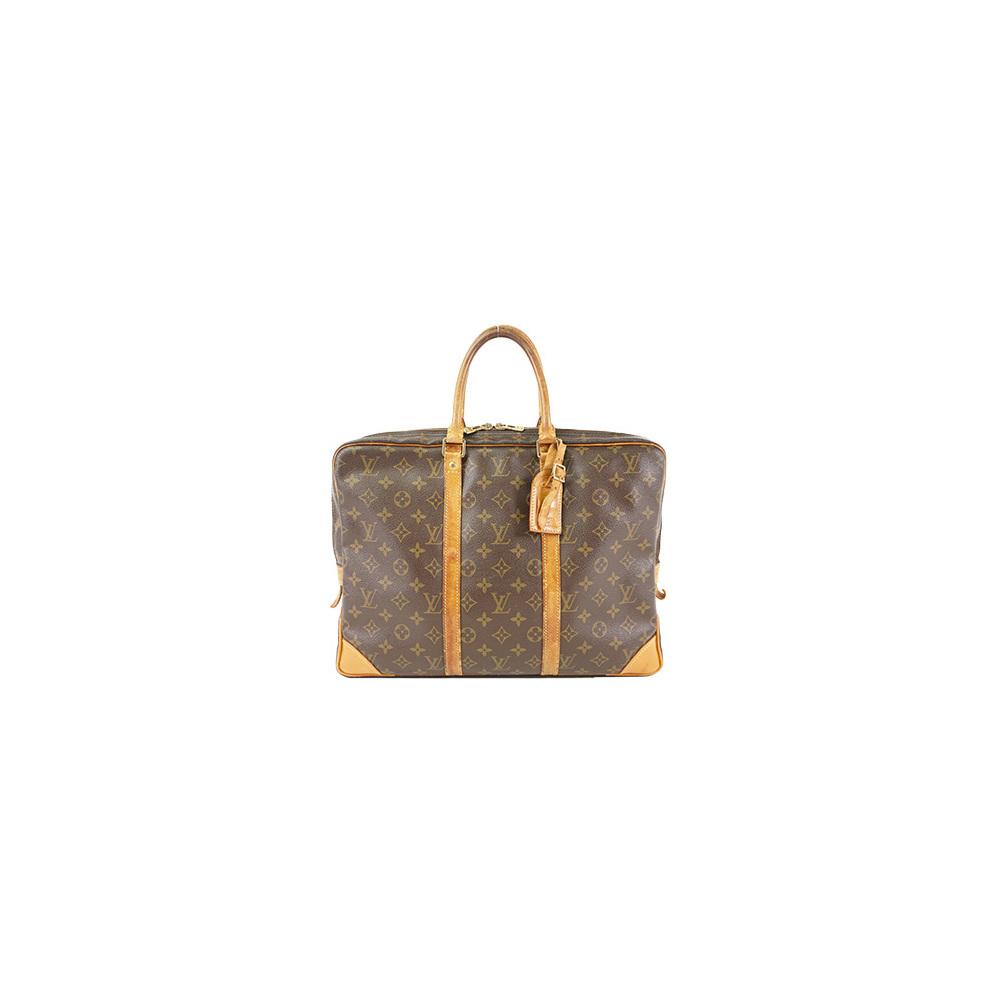 05ccc5725b Auth Louis Vuitton Briefcase Monogram Porte Documents Voyage M40226