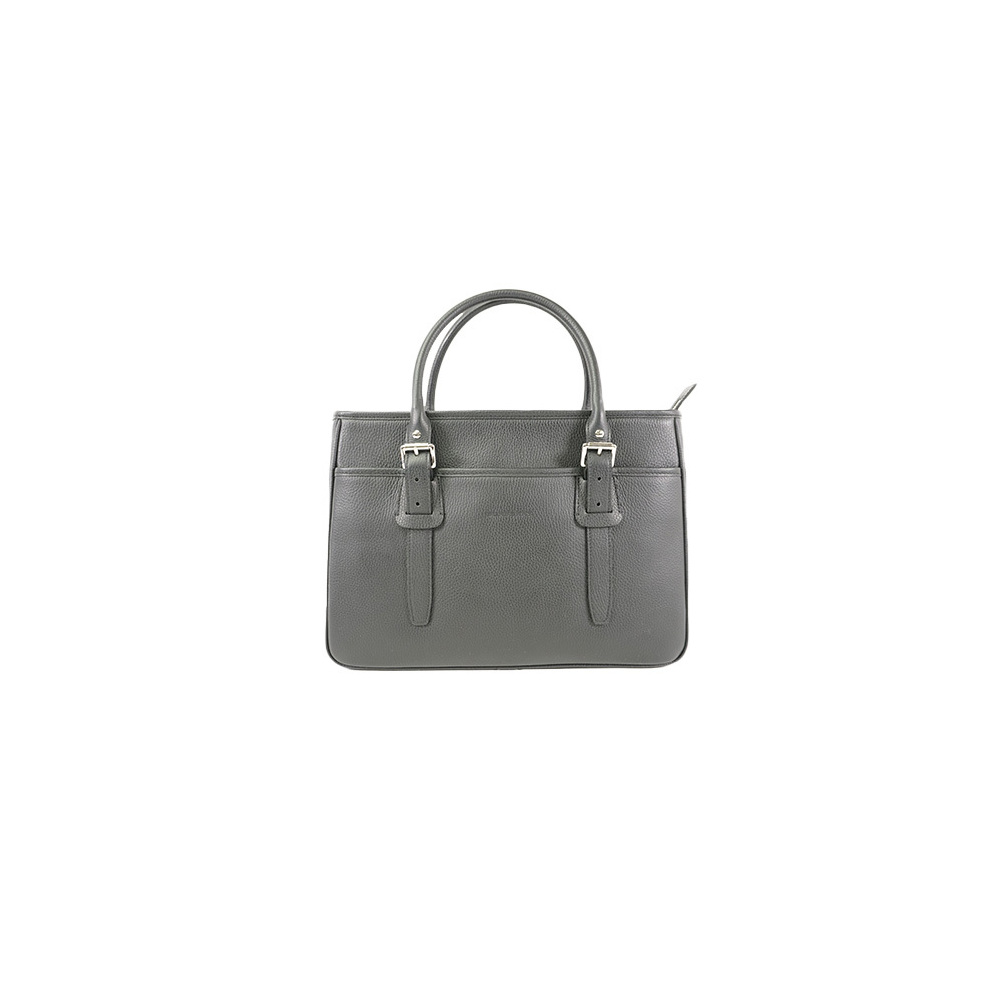 Auth Burberry Tote Bag Black  Silver