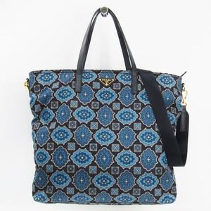 Prada Women's Nylon Tote Bag Blue,Navy