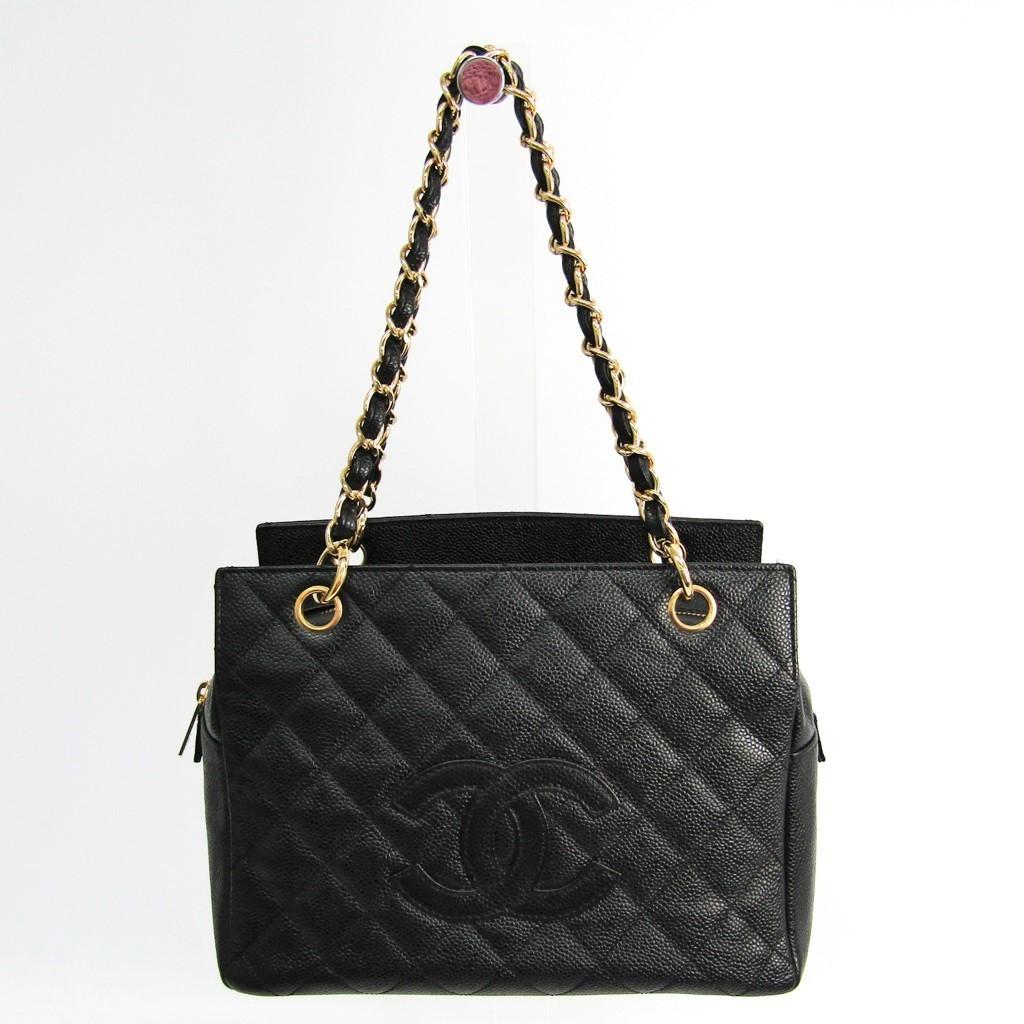ea8902a93ab1 Chanel Petite · Timeless Tote PTT A18004 Caviar Leather Handbag Black  BF332438