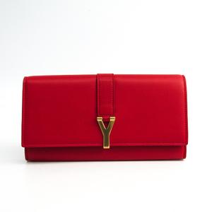 サン・ローラン(Saint Laurent) 314995 レディース レザー 長財布(二つ折り) レッド