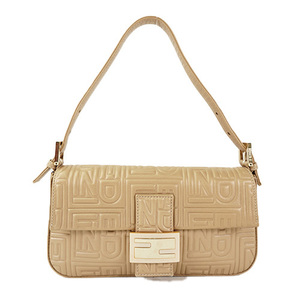 Auth Fendi Shoulder Bag Beige
