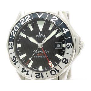 Polished OMEGA Seamaster GMT Gerry Lopes Steel Automatic Watch 2536.50 (BF301144