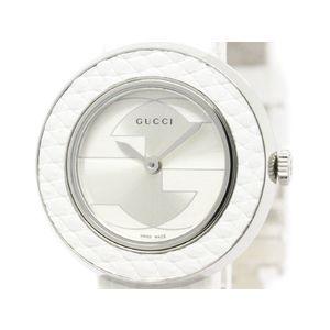 GUCCI グッチ ユープレイ ステンレススチール レザー クォーツ レディース 時計