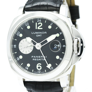 PANERAI パネライ ルミノール GMT レガッタ 2002 ローレウス 限定 ステンレススチール レザー 自動巻き メンズ 時計